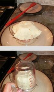 Forming a tortilla bowl