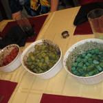 Food cubes, uneaten